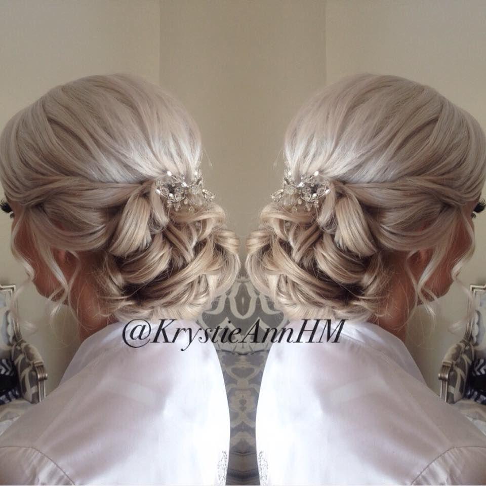 hair: www.krystieann wedding hair, bridal hair, platinum