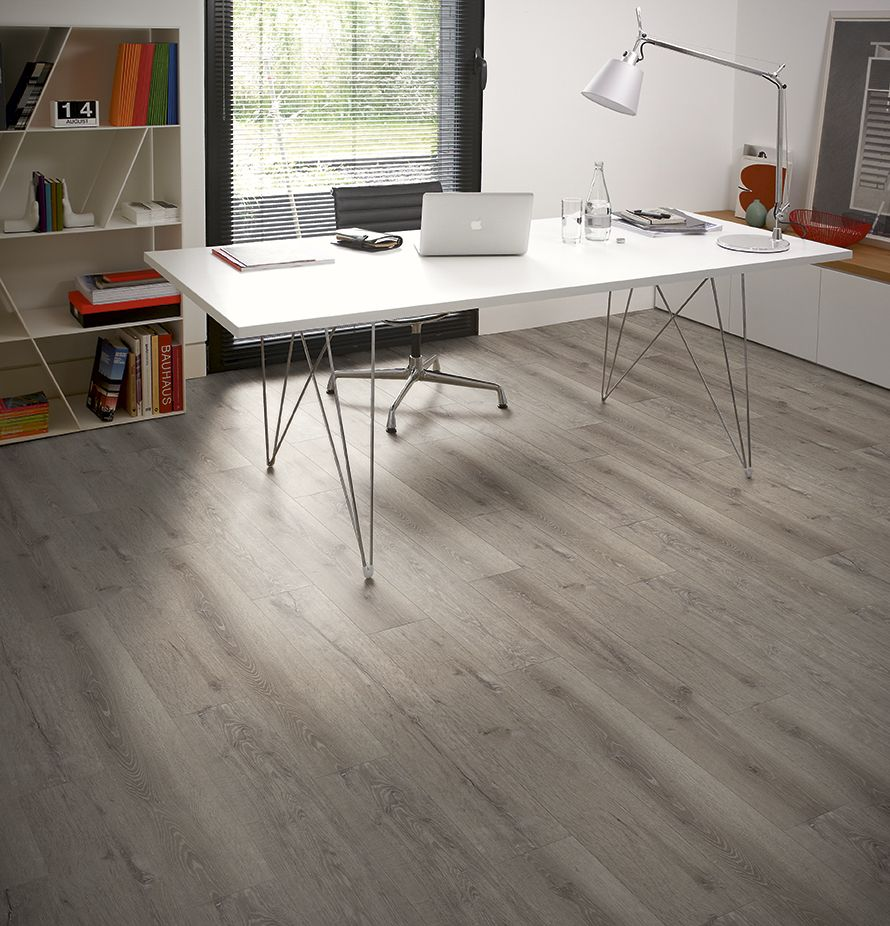 Superieur Design Ideas Attractive Home Flooring Ideas And Home Office Decoration Using Mission Wood Amtico Floor Tiles Including Rectangular White Desk And Double   ...