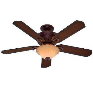 $219.28 Hunter Fan 23958 52-Inch Regal Oak Ceiling Fan, Leather Brown