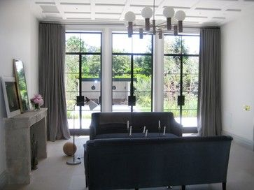 Houzz Contemporary Living Room Window Treatments