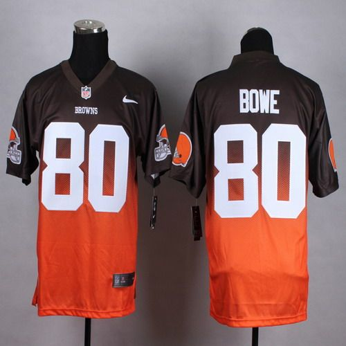 cfc0fbe8e7b Nike Cleveland Browns  80 Dwayne Bowe Brown-Orange Fadeaway Elite Jersey