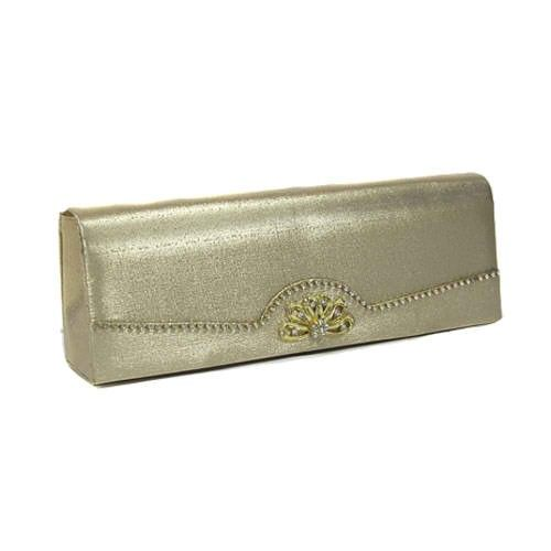 Crystal Lined Gold Evening Clutch - $15