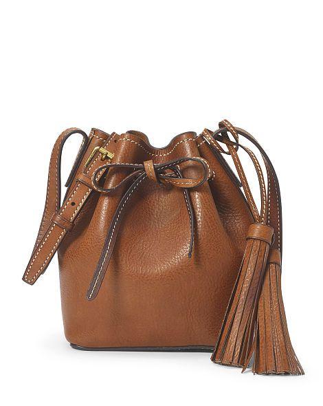 67d272968f Mini Leather Bucket Bag - Polo Ralph Lauren Crossbody Bags - RalphLauren.com