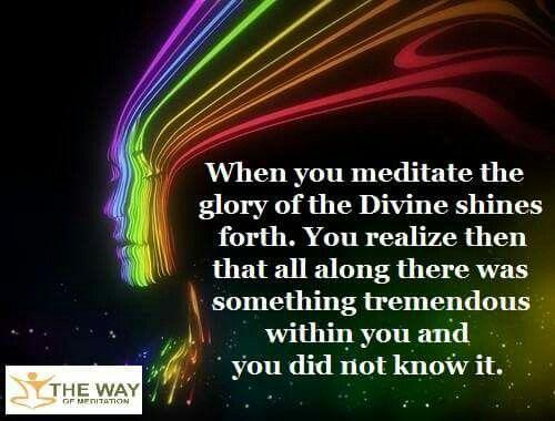 When you meditate... | Marianne williamson quote ...