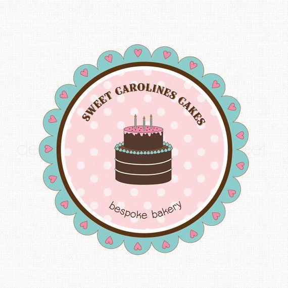 Premade Logo Cake Logo Design Bakery Logo Bakers Logo By