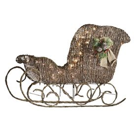 Holiday Living 1-Piece 2-ft Sleigh Outdoor Christmas Decoration ...