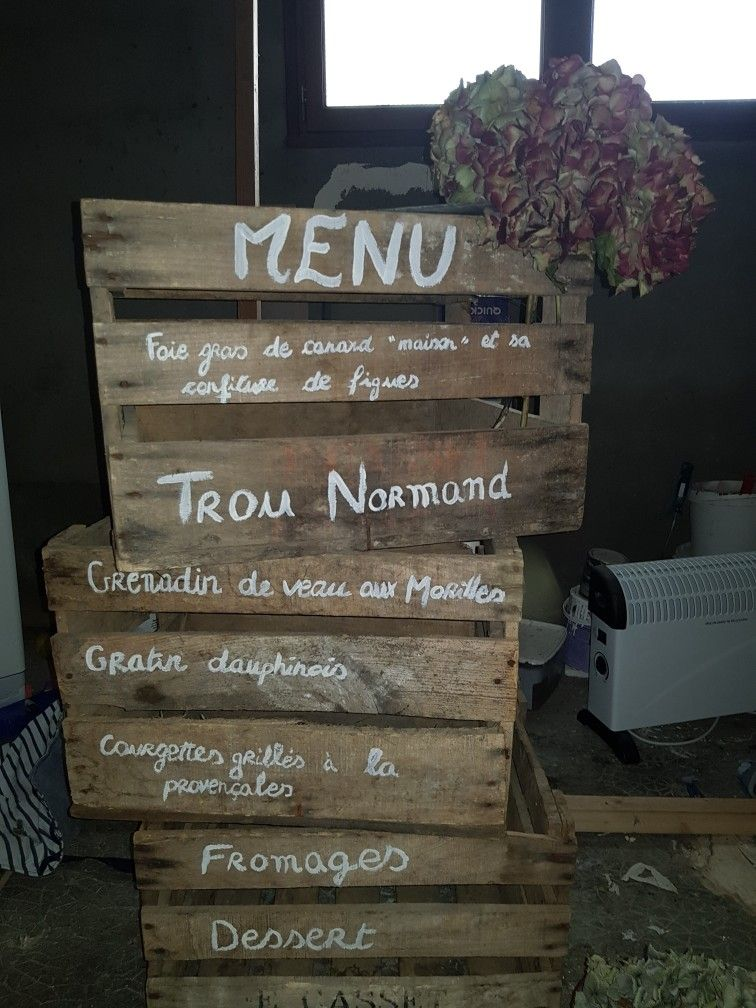 Id e originale pour pr senter le menu vieilles caisses en for Idee menu original