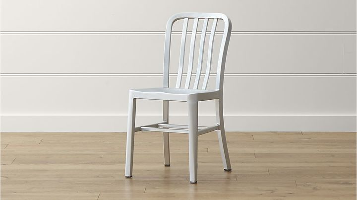 Delta Aluminum Dining Chair | Metal dining chairs, Dining ...