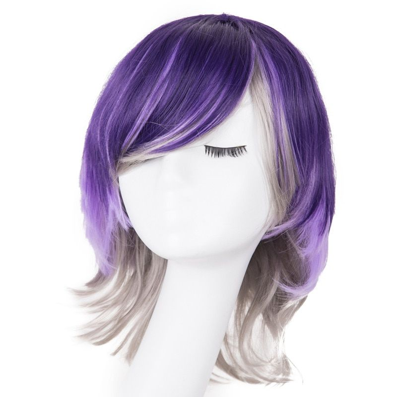 Hair Extensions & Wigs Cosplay Wig Fei-show Synthetic Heat Resistant Fiber Short Wavy Hair Women Ladies Costume Halloween Carnival Events Hairpiece Synthetic Wigs