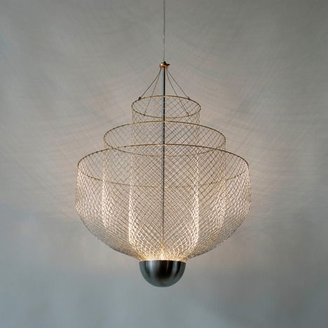 Meshmatics chandelier by rick tegelaar chicken wire light meshmatics chandelier by rick tegelaar chicken wire mozeypictures Choice Image