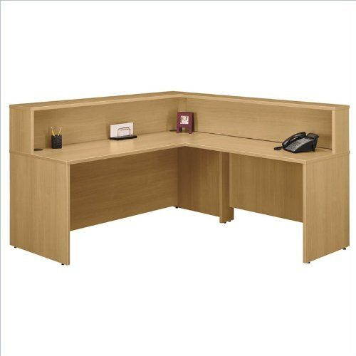 Bush Furniture Series C Light Oak Reception Desk by Bush $80536