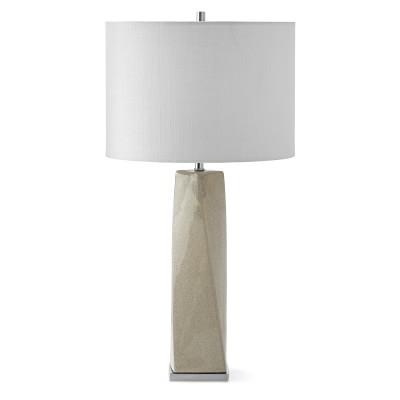 Piper ceramic table lamp pale grey williamssonoma