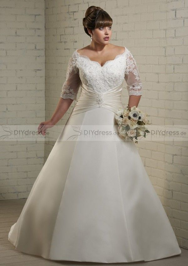 lace plus size wedding dress | Hochzeitskleider | Pinterest ...