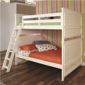 Willow Run Twin Bunk Bed With Raised Panel Ends By Lea Industries   Stoney  Creek Furniture