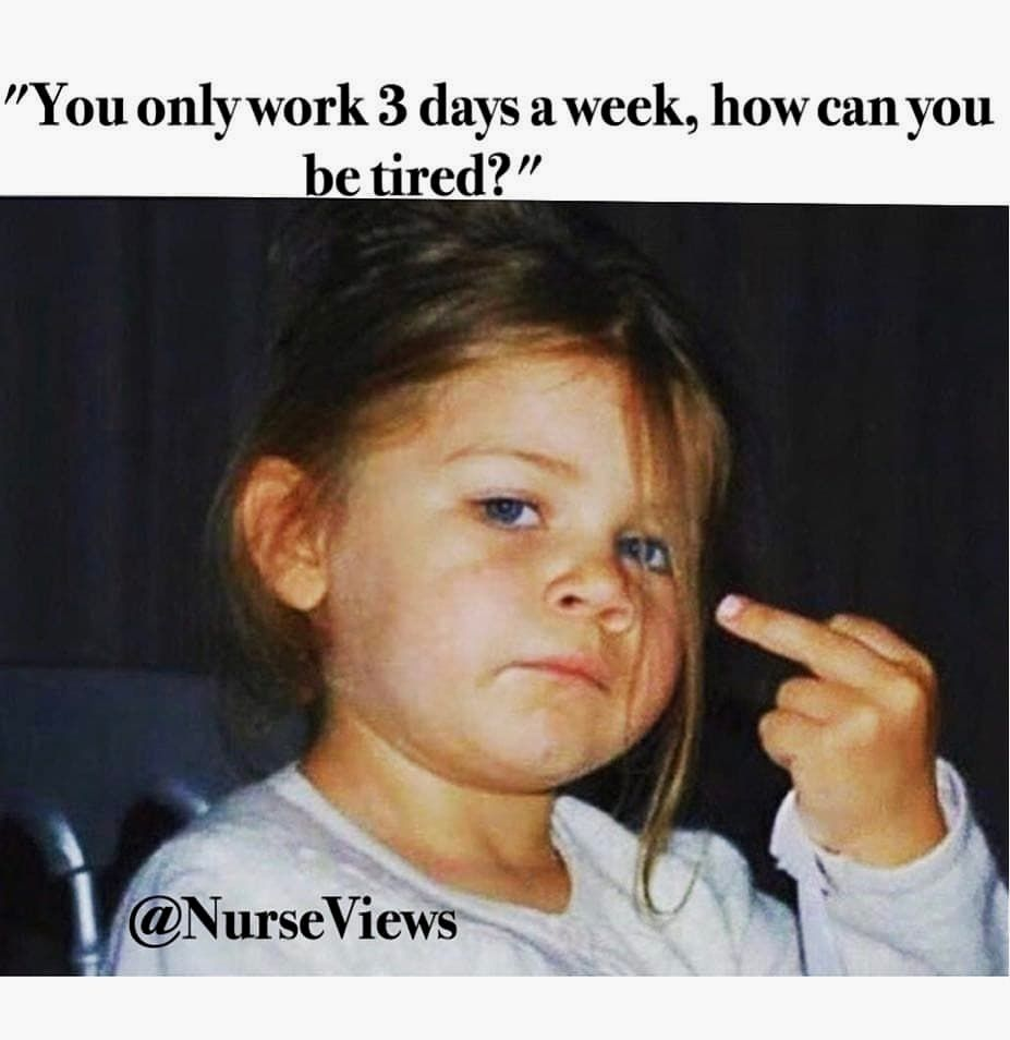 Proud To Be Nurse On Instagram Tag A Friend Who Need To See This Note Picture By Nursesproud F Nurse Memes Humor Nurse Humor Tired Funny