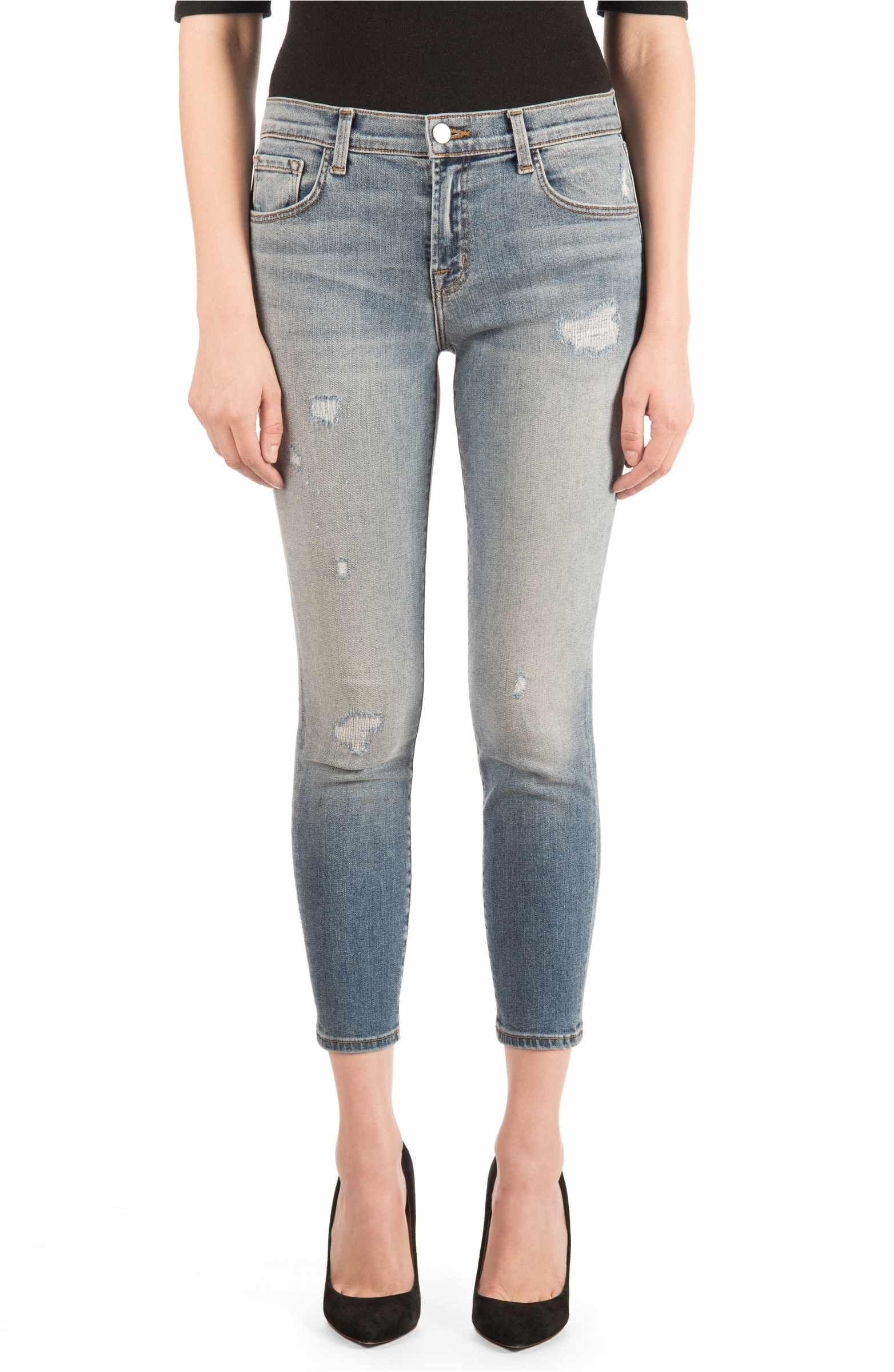bb9f2095bffd Main Image - J Brand 835 Distressed Capri Skinny Jeans (Nolita ...