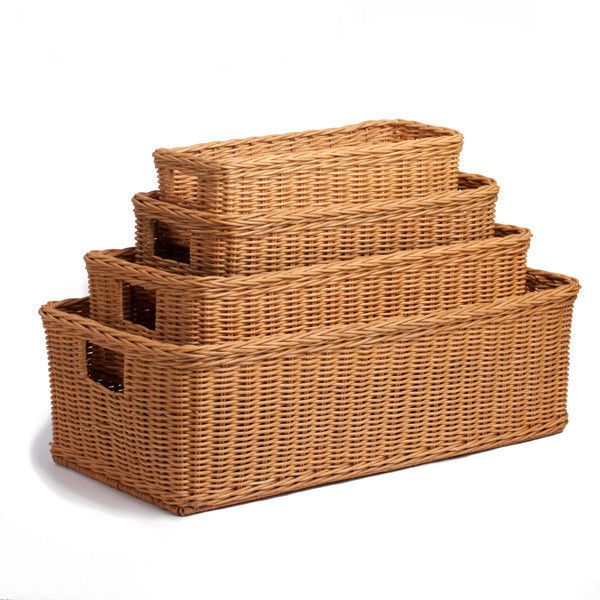 Good Long Low Wicker Basket Awesome Ideas