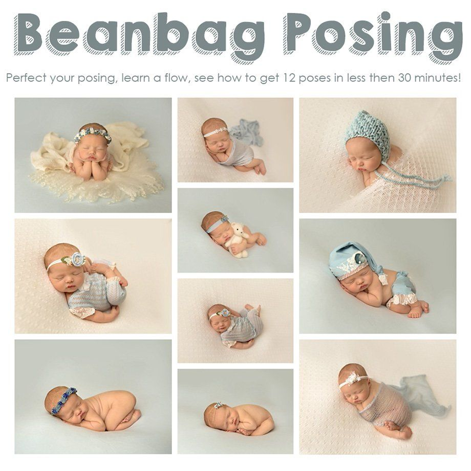 Image of posing video 1 beanbag with pdf posing guide