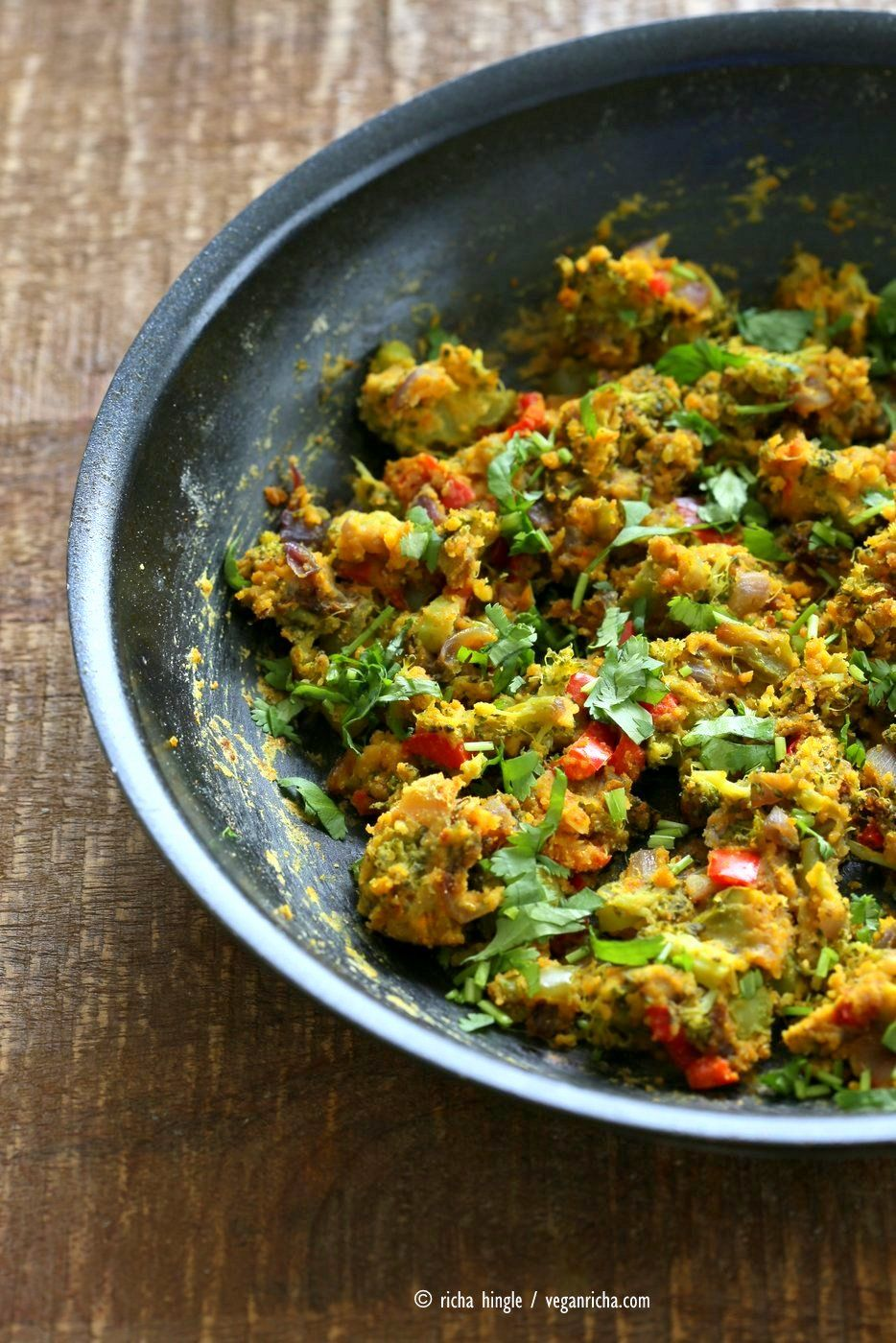 Broccoli Bell Pepper With Spices Chickpea Flour Recipe Mens
