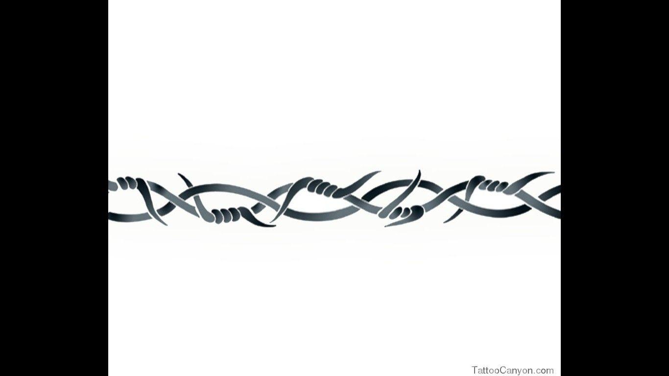 barbed wire band arm tattoo design tattootemptation tattoo