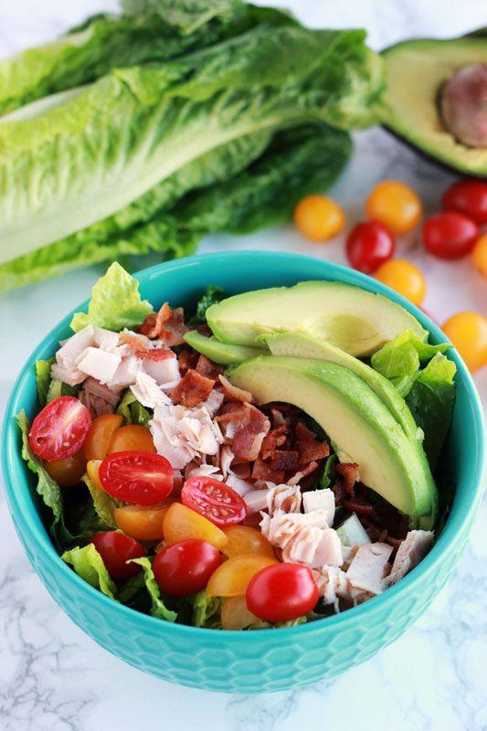 Turkey Bacon Avocado Salad on One Sweet Appetite