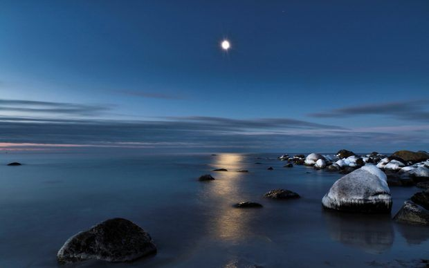 Moon Wallpapers Hd Night Sky Wallpaper Scenery Wallpaper Background Images Wallpapers