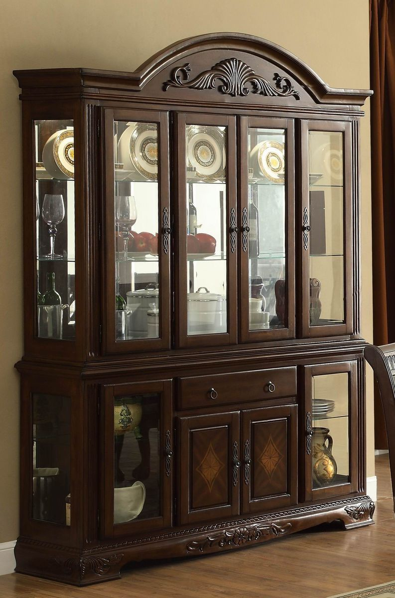 Beautiful China Cabinet and Buffet Table Set