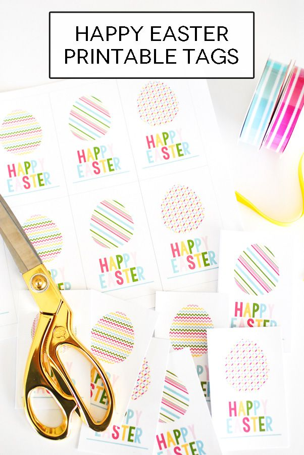 Free happy easter printable tags spring pinterest free happy easter printable tags negle Gallery