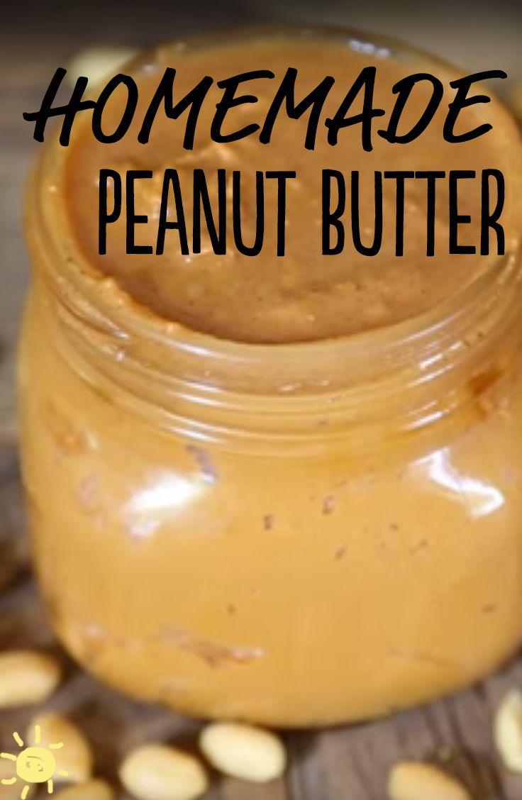EAT: HOMEMADE PEANUT BUTTER #homemade #peanutbutter #recipe #healthy