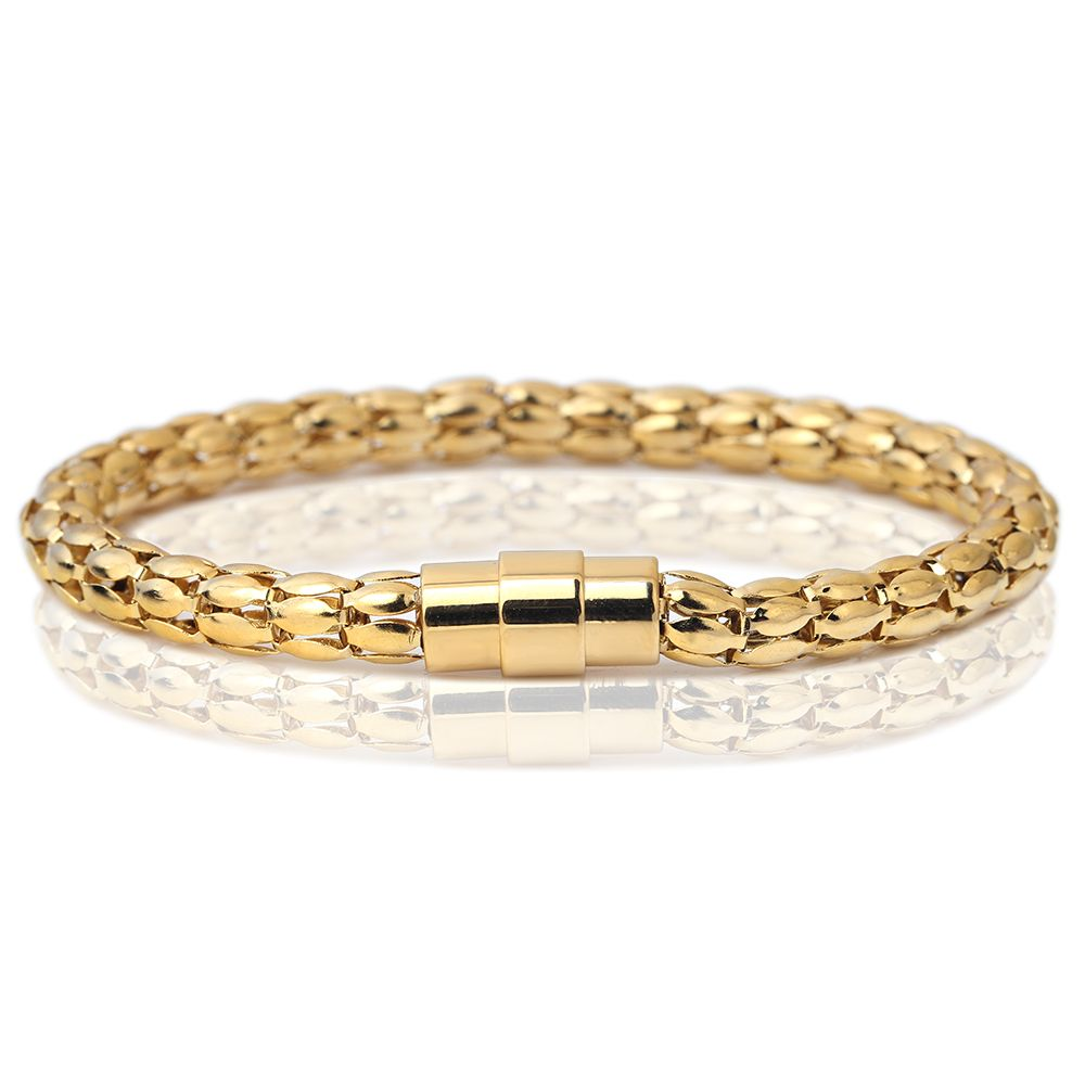Luxury color l stainless steel twisted chain cable bracelet men