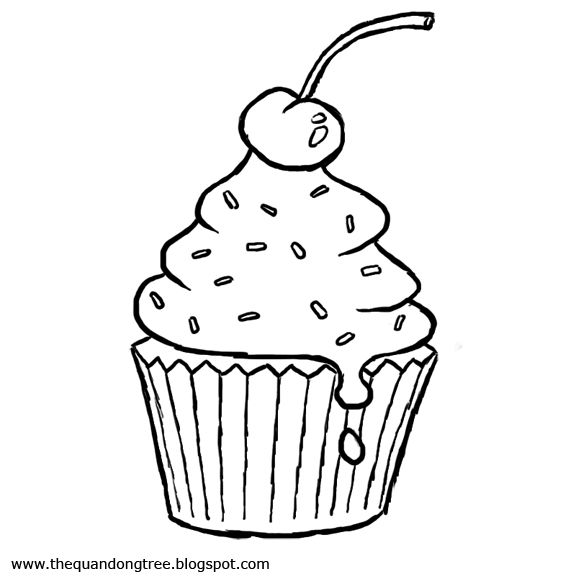 Cupcake coloring page   Birthday Party ideas   Pinterest   Moldes ...