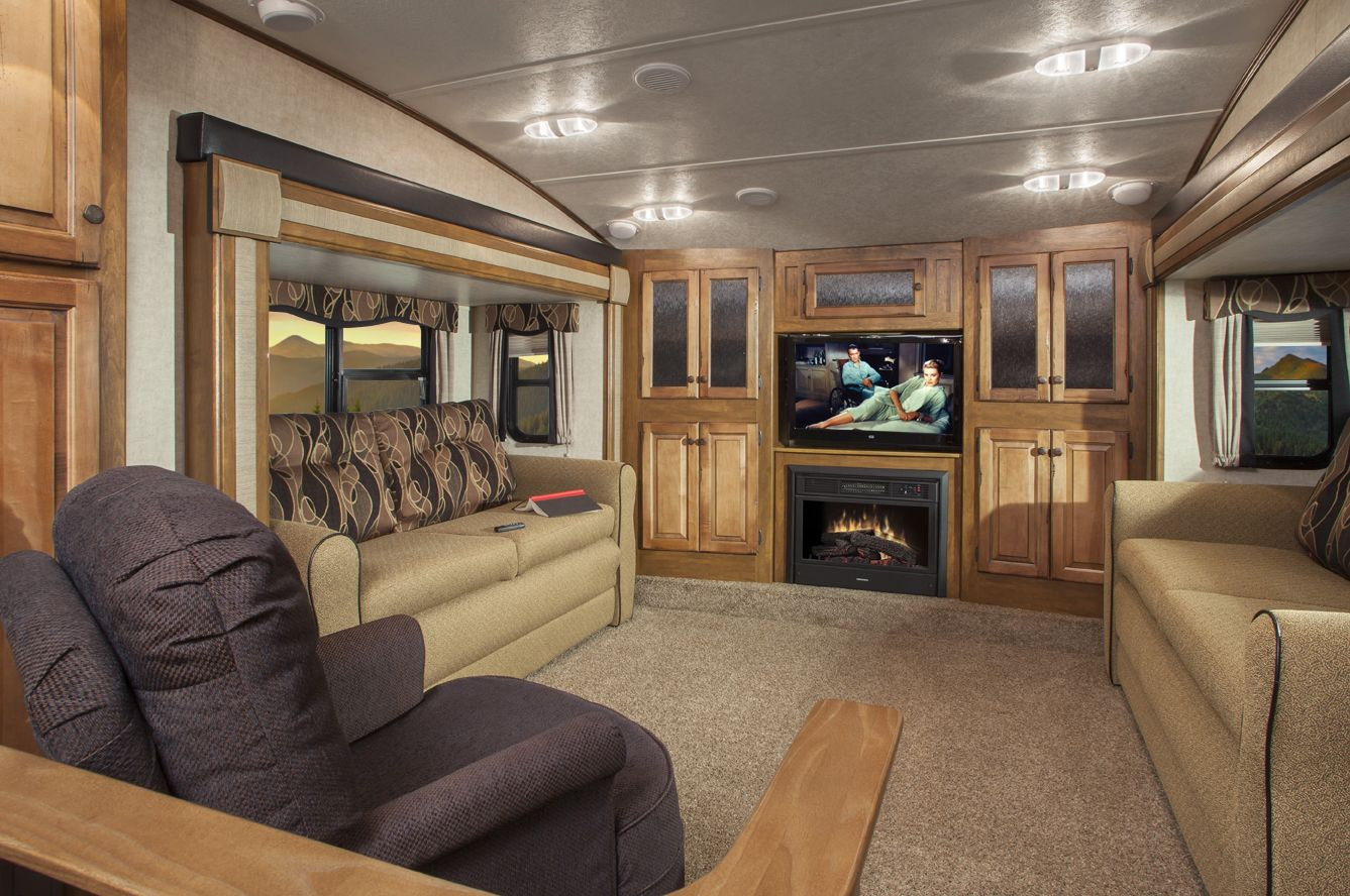 Unique 5th wheel campers with front living room for house - 2016 luxury front living room 5th wheel ...
