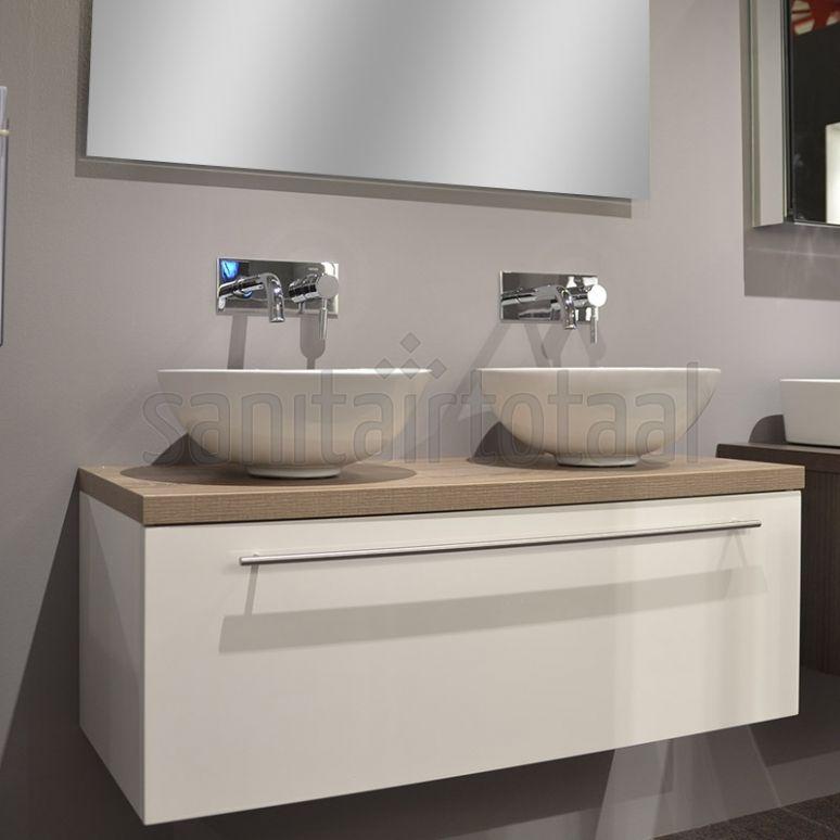 landelijk badkamermeubel badkamer waskom waskommen wit