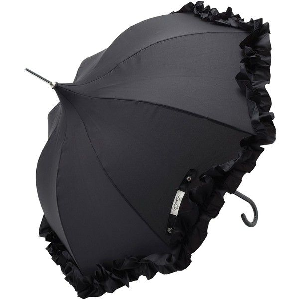 Lisbeth Dahl Ruffle Umbrella, Black ($35) ❤ liked on Polyvore featuring accessories, umbrellas, umbrella, black, lolita, parasol, victorian umbrella, ruffle umbrella, frilly umbrella and lisbeth dahl umbrella