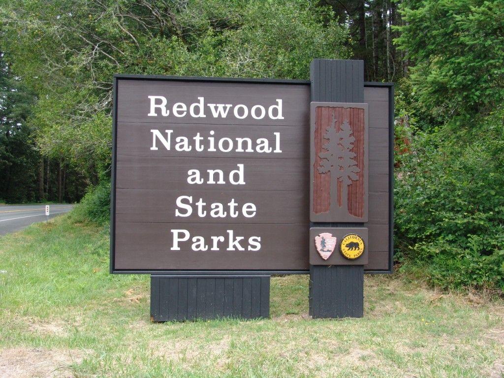 Redwood national park sign california us national park signs redwood national park sign california sciox Choice Image