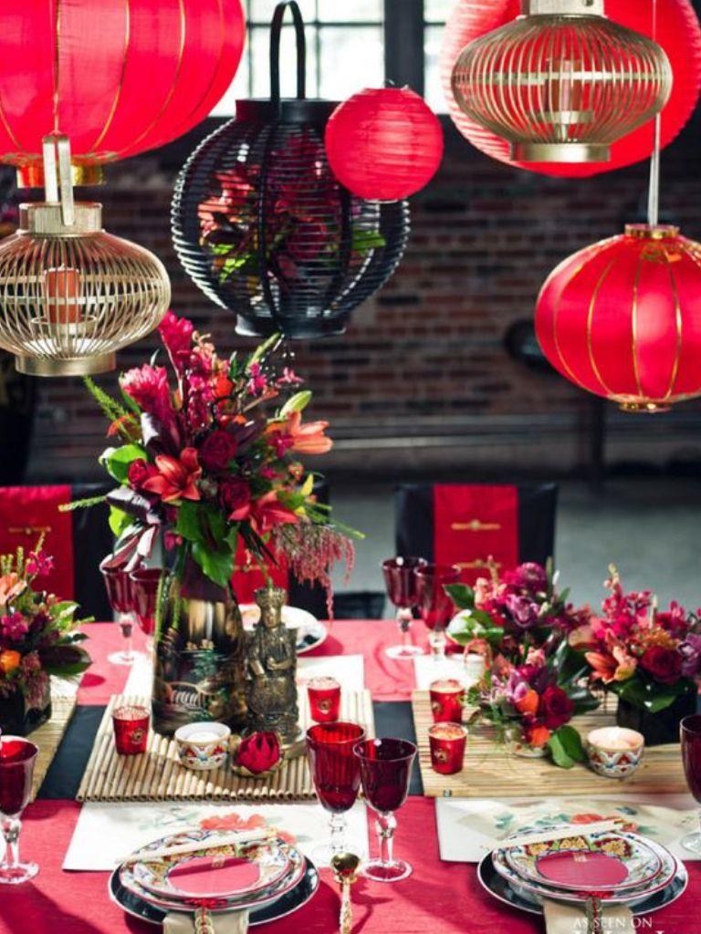 Lanterns style table new year pinterest setting table lanterns style table junglespirit Images