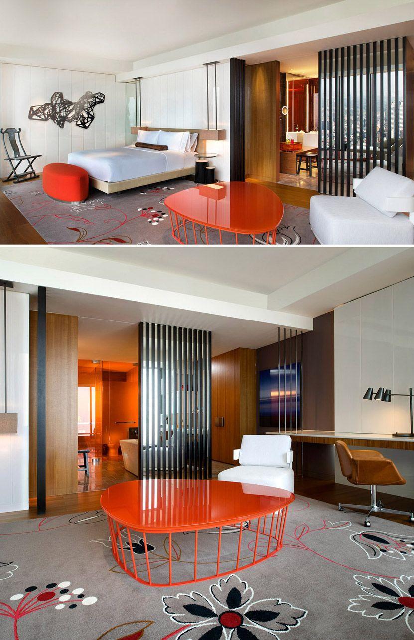 Small Hotel Room Design: W Taipei_Cool Corner Room_Bedroom