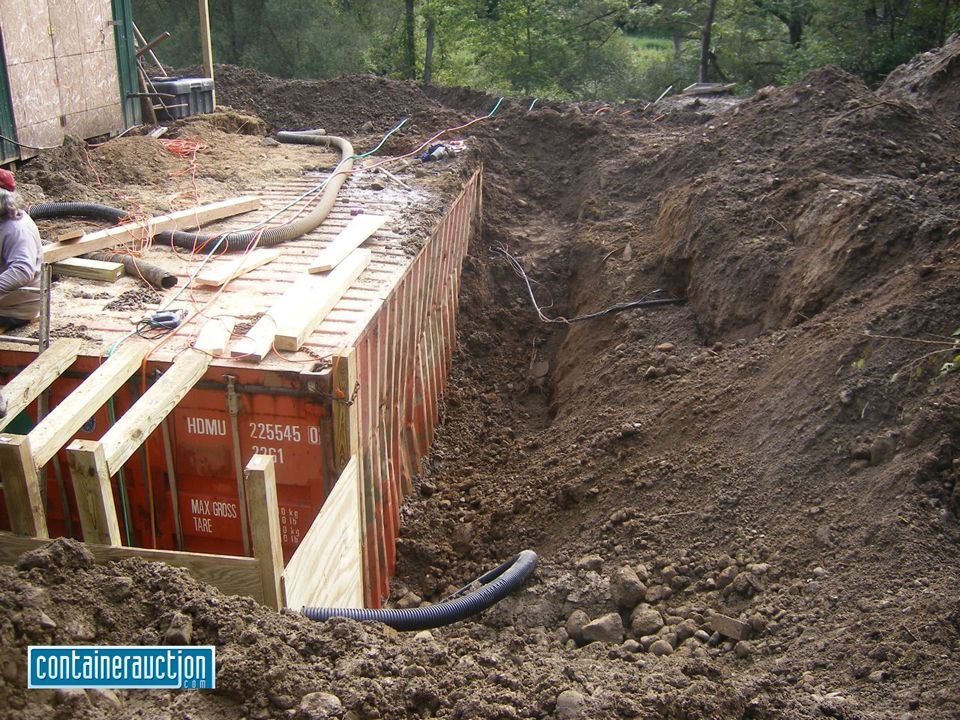 Underground Shipping Container Homes | By Ryan @ Containerauction.com