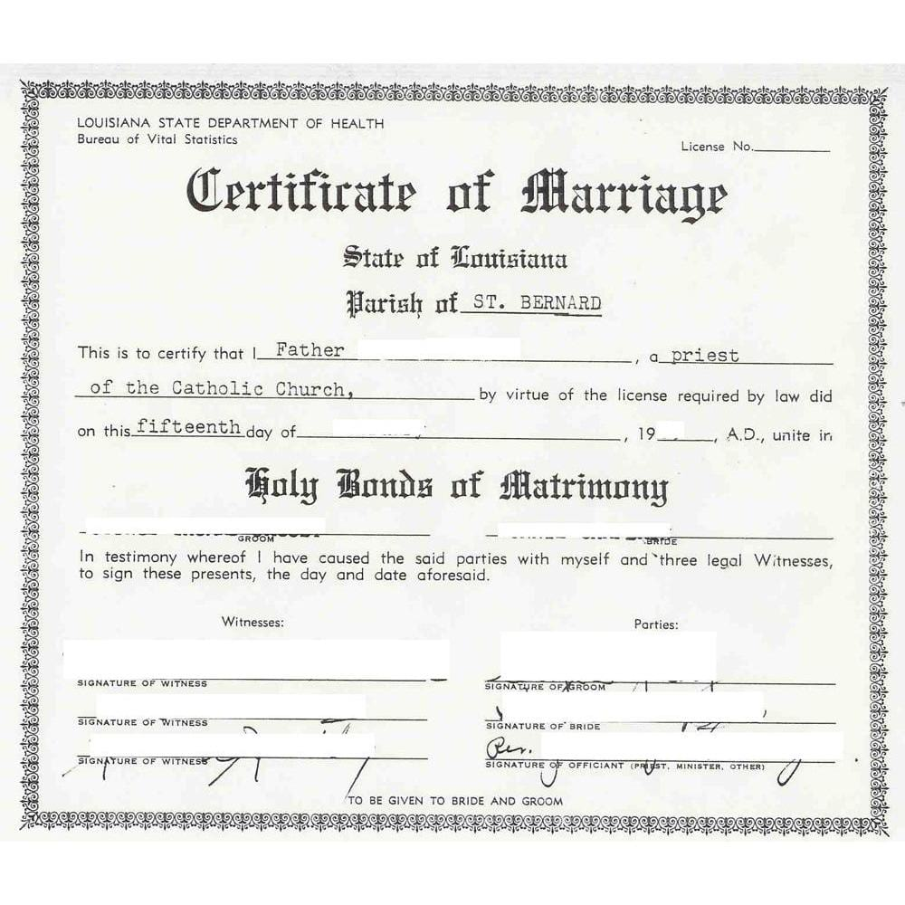 Marriage Certificates Marriage Certificate Marriage Records Marriage