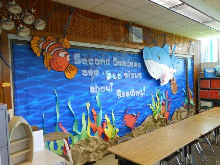 Classroom Decoration Ideas Quotes ~ The best ocean bulletin boards ideas on pinterest