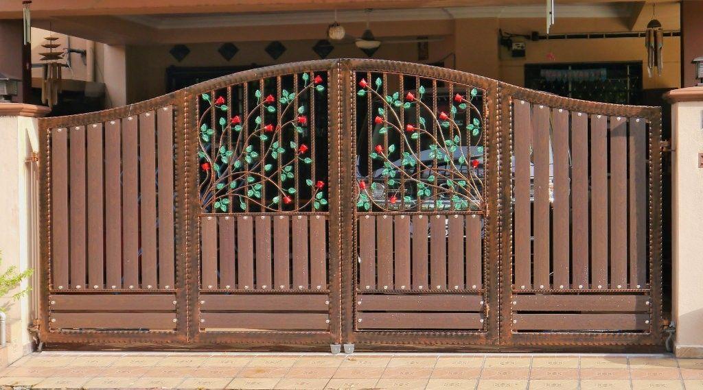 Folding Wrought Iron Auto Gate Design In Malaysia Rumah