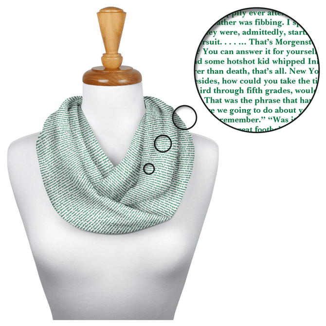 The Princess Bride Infinity Scarf from Litographs is composed entirely from the text of the beloved screenplay!