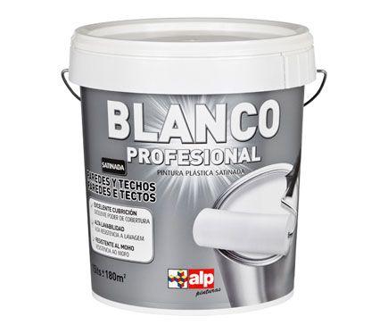 Pintura blanca para interior alp satinada profesional for Pintura plastica leroy merlin