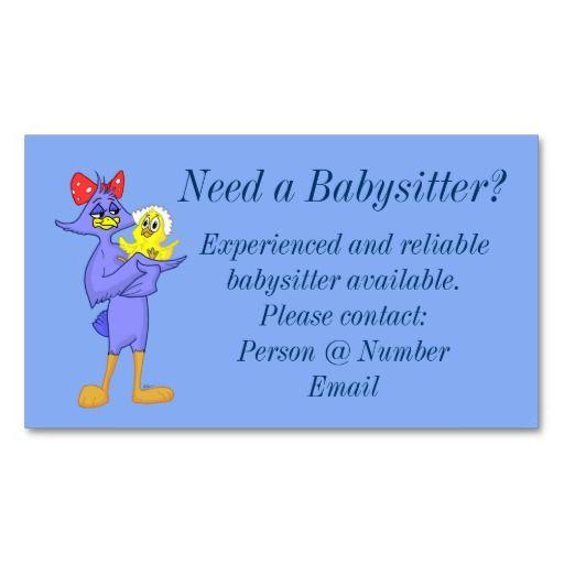 Carte De Visite Babysitter