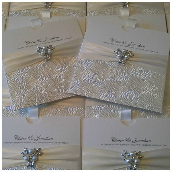 Diamonds Pearls Crystal Couture Luxury Wedding Stationery Norfolk UK Award Winning Invitations