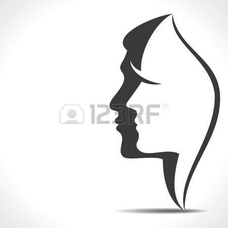 Man Face Silhouette Men Women Face Male Face Man And Woman Silhouette Silhouette Illustration