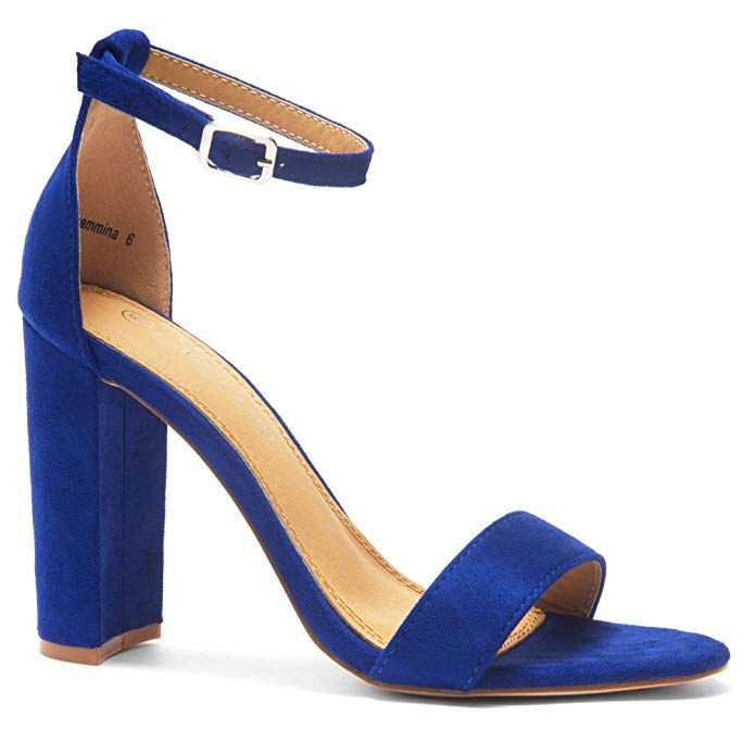 redHerstyle Rosemmina Womens Open Toe Ankle Strap Chunky