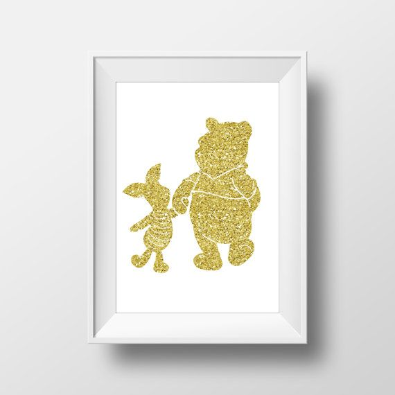 Wall Art Disney Print Winnie the Pooh,Piglet,Disney Quotes,Nursery ...