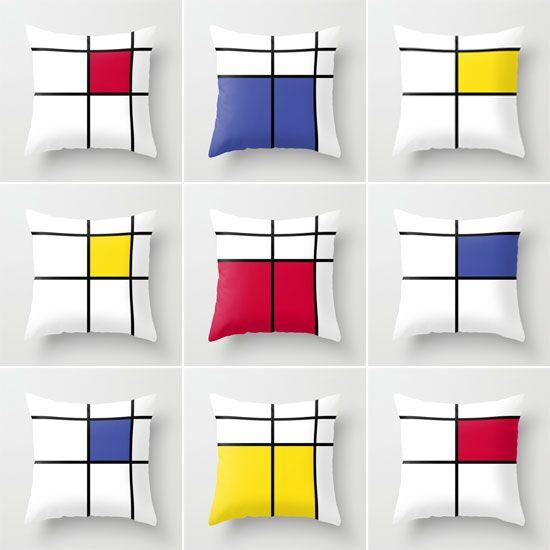 Mondrian Inspired Cushion Designs Julie Sapsford
