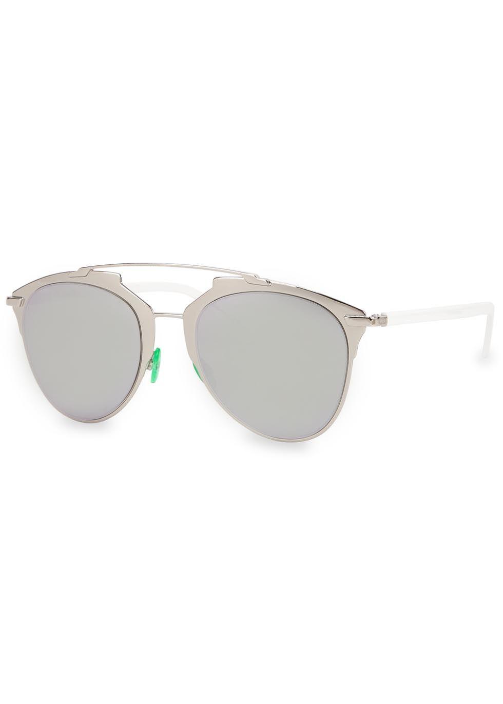 29b97a3747c5 Christian Dior silver tone metal sunglasses Grey mirrored lenses ...